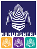Monumental construction. Stylized abstract vector illustration symbolizing monumental, massive, scale Royalty Free Stock Image