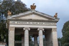Villa Borghese entrance in Rome, Italy stock photo