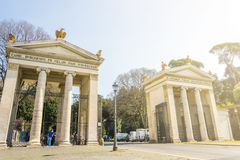 Monumental entrance of Villa Borghese in Rome, Italy Royalty Free Stock Image
