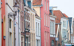 Monumental facades in deventer, netherlands Stock Photo