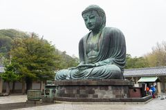 Monumental famous bronze statue of the great buddha   & x28;Daibutsu& x29;. In Kotokuin Temple, Kanagawa prefecture, Kanto region, Japan, Tourist Attractions& Royalty Free Stock Photography