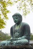Monumental famous bronze statue of the great buddha   & x28;Daibutsu& x29;. In Kotokuin Temple, Kanagawa prefecture, Kanto region, Japan, Tourist Attractions& Royalty Free Stock Images