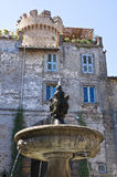 Monumental fountain. Bagnaia. Lazio. Italy. Royalty Free Stock Photos