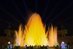 Monumental fountain barcelona Stock Photo