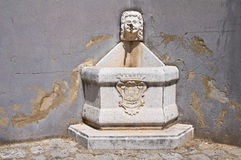 Monumental fountain. Brienza. Italy. Stock Image