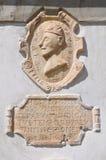 Monumental fountain. Morano Calabro. Calabria. Italy. Stock Photos