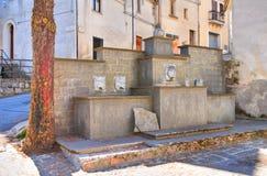 Monumental fountain. Satriano di Lucania. Italy. Royalty Free Stock Photos