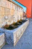 Monumental fountain. Satriano di Lucania. Italy. Stock Images