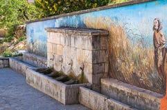 Monumental fountain. Satriano di Lucania. Italy. Royalty Free Stock Image