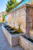 Monumental fountain. Satriano di Lucania. Italy. Royalty Free Stock Photo