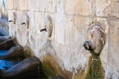 Monumental fountain. Satriano di Lucania. Italy. Stock Photography