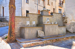 Monumental fountain. Satriano di Lucania. Italy. Royalty Free Stock Photos