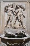 Monumental fountain. Soriano nel Cimino. Lazio. Italy. Monumental fountain of Soriano nel Cimino. Lazio. Italy Stock Image