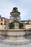 Monumental fountain. Sutri. Lazio. Italy. Stock Photo