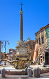 Monumental fountain. Tarquinia. Lazio. Italy. Royalty Free Stock Image