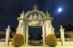 Monumental gate in madrid Stock Images