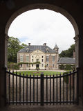 Monumental gate to castle in Dutch Renaissance style Royalty Free Stock Photo