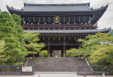Monumental gate to Chion-in Buddhist Temple. Stock Photo