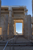 Monumental gateway Propylaea in the Acropolis of Athens, Greece. Monumental gateway Propylaea in the Acropolis of Athens, Attica, Greece Royalty Free Stock Images