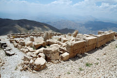 Monumental god heads on mount Nemrut Stock Photography