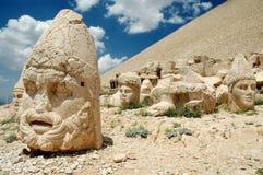 Monumental god heads on mount Nemrut, Turkey. Monumental god heads on mount Nemrut, East-Turkey Stock Photo