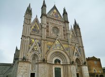 The monumental gothic cathedral of Orvieto Royalty Free Stock Photography