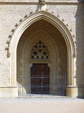 Monumental gothic gate with lattice Royalty Free Stock Photos