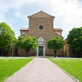 The monumental graveyard of Ferrara city Stock Photos