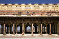 Monumental hall in Jaipur fort, India Royalty Free Stock Images