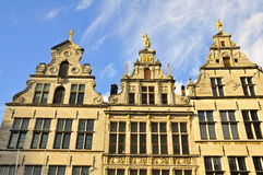 Monumental House Facades, Antwerp Royalty Free Stock Photography