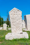 Monumental medieval tombstone in Stolac, Herzegovina Stock Photos