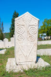 Monumental medieval tombstone in Stolac, Herzegovina Royalty Free Stock Image