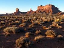 Monumental Morning. Sunrise in the desert of Monument Valley, Utah royalty free stock image