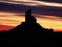Monumental Morning. Sunrise at Monument Valley in the Southwest stock images