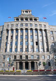 Monumental palace of the Main post office in Belgrade, Serbia Stock Photos