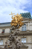 Monumental Plague column. VIENNA, AUSTRIA - JUNE 27, 2015: Monumental Plague column (Pestsaule) on Graben street. The Graben is one of the most famous streets in Royalty Free Stock Photos