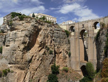 Monumental Puente Nuevo in Ronda. One of the best attractions in Spanish Andalusia - breathtaking Puente Nuevo (New Bridge) in Ronda royalty free stock images