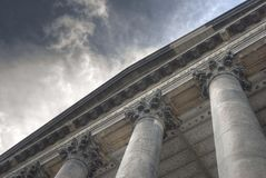 Columns for clouds royalty free stock photography