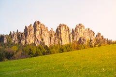 Monumental sandstone ridge of Suche skaly Royalty Free Stock Images