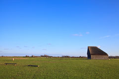 Monumental sheep barn on texel Royalty Free Stock Photography