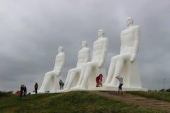 Monumental skulptur på kusten, i Esbjerg, Danmark royaltyfri bild