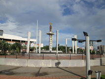 Monumental square, Puerto Ordaz Royalty Free Stock Images