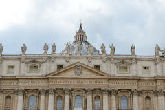 Monumental St. Peter's Basilica in Vatican, Italy Royalty Free Stock Image