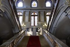 Monumental staircase of Palazzo Litta in Milan Royalty Free Stock Images
