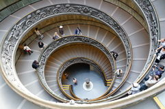 Monumental Stairs of the Vatican Museum Royalty Free Stock Photos