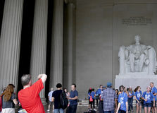 Monumental Statue of Abraham Lincoln in Washington DC USA Stock Photos