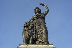 The monumental statue Bavaria of Munich in Germany Stock Photos