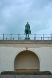 Monumental statue of king leopold the second Royalty Free Stock Photography