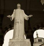monumental staty för kyrkogård arkivbild