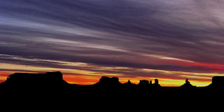 Monumental Sunrise. Early morning sunrise over Monument Valley in the Southwest royalty free stock photos